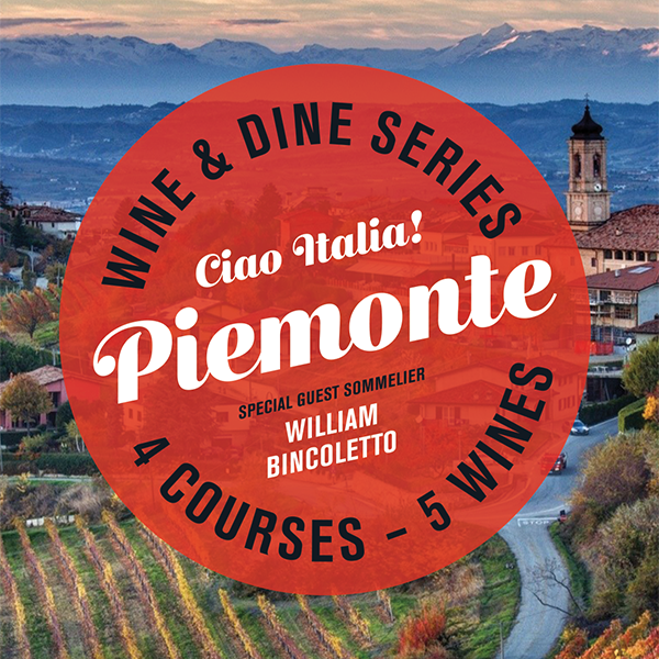 Buco Windermere Wine Dinner: Piemonte | 4 Courses - 5 Wines